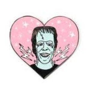 NEW Herman Munster Heart Enamel Pin